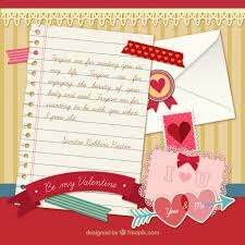 Love Letter Free Download Love Letter With Elements Vector Free Download