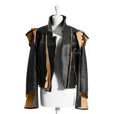 maison martin margiela x h m deconstructed leather jacket size 2 xs
