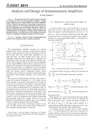Design Aspects Of Monolithic Op Amps Pdf Analysis And Design Of Instrumentation Amplifiers