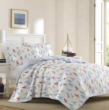 ahoy 100 cotton reversible quilt set by laura ashley home
