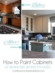 Painting Inside Kitchen Cabinets Inspiration How To Paint Kitchen Cabinets A StepbyStep Guide