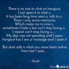 Massage Quotes Custom There Is No One To Chat O Quotes Writings By Shubham