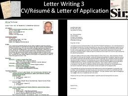 Writer Resume Awesome Letter Writing 44 CVR é Sumé Letter Of Application Ppt Download