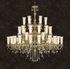 traditional chandelier crystal polished brass incandescent calla dia 160 x h 160 cm