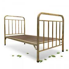 Antikes Bett Messing Jugendstil Gitterrost Gold Messingbett
