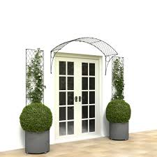 french door canopy in wirework