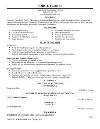 Resumes For Entry Level Jobs Best Entry Level Mechanic Resume Example LiveCareer 15