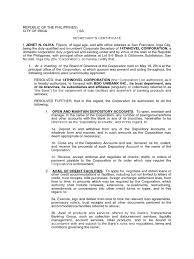 Secretary S Certificate Credit Finance Banks