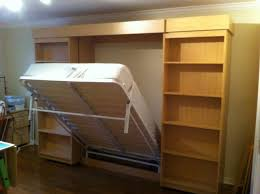 sliding library murphy bed how
