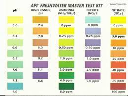 Api 5 In 1 Aquarium Test Strips Color Chart Www
