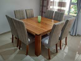solid exotic african kiaat hardwood dining room table chairs african hardwoods durban south africa