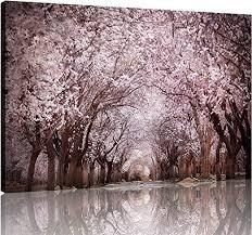 NAN Wind <b>1 Piece Modern</b> Cherry Blossom Trees Large <b>Wall</b> Art