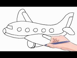 Airplane Drawing How To Draw An Airplane Easy Step By Step Youtube