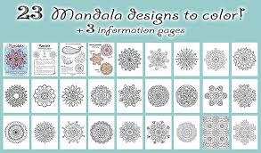 Mandala Design Coloring Pages Free Mandala Designs To Print Get Your