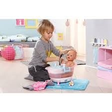 baby born interactive bathtub with foam