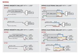 2 lamp ballast wiring diagram wiring Easy Drawing CFL Bulb Diagram 2 lamp ballast wiring diagram with