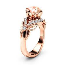 Ladies' luxurious <b>bowknot</b> champagne <b>zircon</b> ring with exquisite ...
