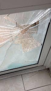 broken glass glass door repair double