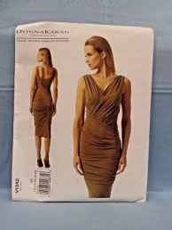 Vogue Pattern Delectable Vogue 48 Donna Karan Collection American DESIGNER Lined Dress