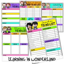 Teacher Checklists Learning In Wonderland