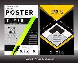 Flyer Poster Templates Flyer Poster Templates Colorful Modern Technology Decor Free