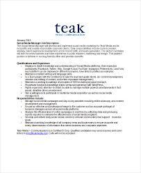 9+ Marketing Manager Job Description - Free Sample, Example, Format ...