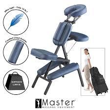 chair massage. amazon.com: master massage professional portable chair, blue: health \u0026 personal care chair
