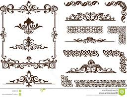 corner of decorative frame vector stock ilration vector ornaments frames corners borders vintage delicate swirls