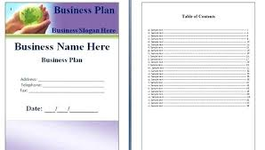 Free Business Plan Templates Word Business Plan Free Template Word Aoteamedia Com