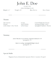 Acting Resume Example Unique Talent Resume Sample Similar Resumes Actor Resume Sample Pdf Amere