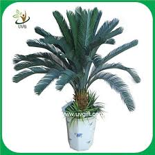uvg plt07 bonsai fake plants with plastic cycas revoluta tree for office decoration artificial plants for office decor