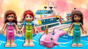 Сборка <b>Lego friends Катер для</b> спасательных операций - YouTube