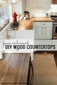 budget friendly diy wooden kitchen countertops by the ragged wren featured on remodelaholic