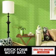 PAKET 5 Lembar Brick Foam Bata 3D ...