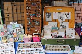 looking for creative craft fair display ideas i ve repurposed old suitcases and shutters