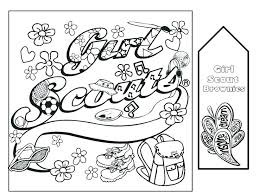 Brownie Girl Scout Coloring Pages Daisy Law Promise Page Scouts Free