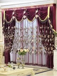 living room curtains with valance. helen curtain new luxury curtains for living room european style embroidery bed red rose valance with l