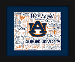 auburn university 16x20 art piece beautifully matted and framed behind glass on auburn tigers wall art with auburn university tigers gift ideas for christmas birthdays