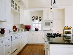 Beautiful White Kitchen Designs Colorful White Kitchen Design With Vase Flower And Simple Cabinet