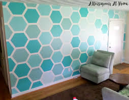painted hexagon ombre wall treatment honeycomb accent wall ombre painted  design