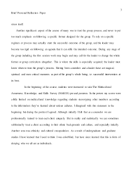 brief personal reflection paper final week   3 3 brief personal reflection paper