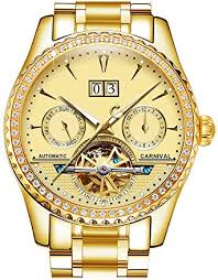 PASOY <b>Carnival Men's</b> Watch Automatic Mechanical <b>Tourbillon</b> Full ...