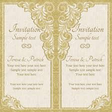 Baroque Wedding Invitations Antique Baroque Wedding Invitation Gold On Beige Background Royalty