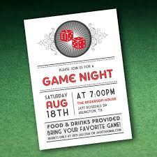 Game Night Invitation Template Invitation Casino Night Casino Night Invitation Wording Samples