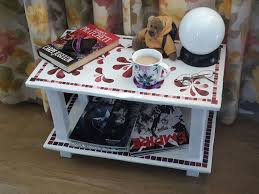 duct tape furniture. Picture Of Small Table Made From Cardboard, Duct Tape And Papier Mache Furniture