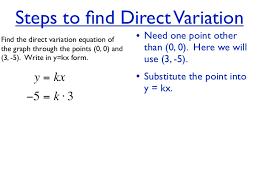 direct variation form unit 4 hw 7 direct variation linear equation give 2 points