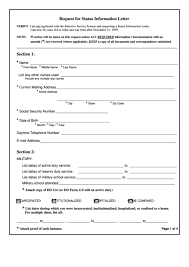 Fillable Sample Request For Status Information Letter Template ...