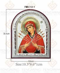 whole bulk gifts the seven swords the sorrows of mary picture framed small religious souvenir