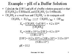 Example Ph Of A Buffer Solution