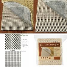 details about doublecheck products non slip area rug pad size 9 x 12 thick padding and extra